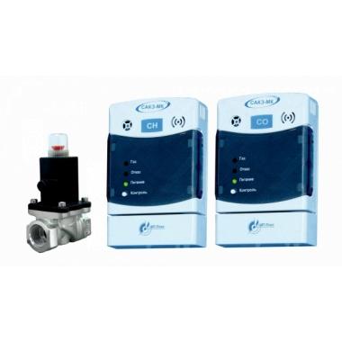 Система автоматического контроля загазованности САКЗ-МК-2 бытовая (на CH4 и CO) Ду20