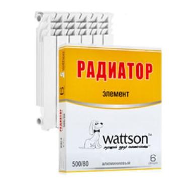 Радиаторы WATTSON Радиатор алюминиевый EXPERTO A3 500/100 6 секц цена, купить в Йошкар-Оле